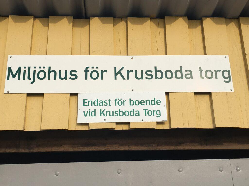 Miljöhus Krusboda torg